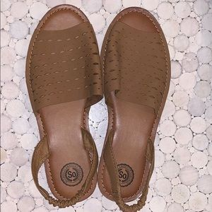 SO Brown Sandals-Never Worn